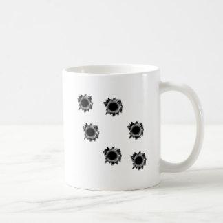 Bullet Holes Basic White Mug