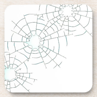 Bullet Holes in Glass Coaster