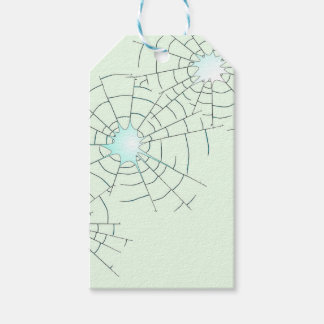 Bullet Holes in Glass Gift Tags