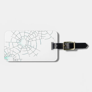 Bullet Holes in Glass Luggage Tag