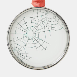 Bullet Holes in Glass Metal Ornament