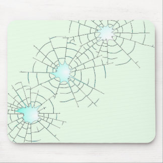 Bullet Holes in Glass Mouse Pad