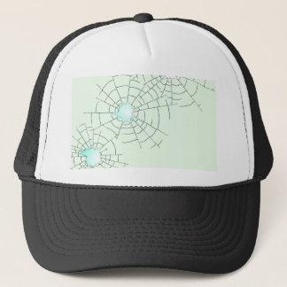 Bullet Holes in Glass Trucker Hat