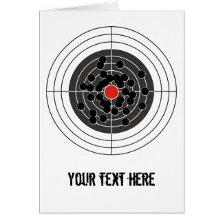 Bullet holes in target - but not the bulls-eye! card