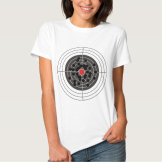 Bullet holes in target - but not the bulls-eye! shirts