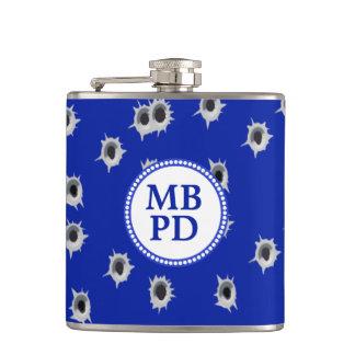 Bullet Holes  Monogram Policeman's Hip Flask