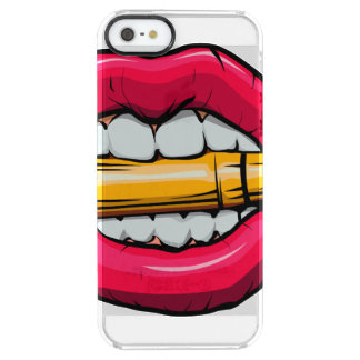 bullet in mouth. clear iPhone SE/5/5s case