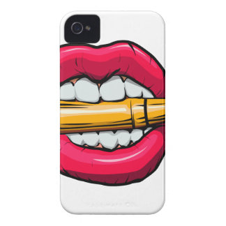 bullet in mouth. iPhone 4 Case-Mate case