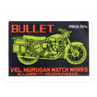 Bullet Match Works Vintage Label Postcard