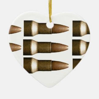 bullet rows yeah ceramic heart decoration