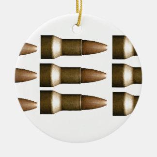 bullet rows yeah round ceramic decoration