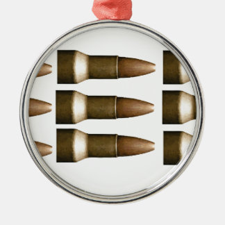 bullet rows yeah Silver-Colored round decoration