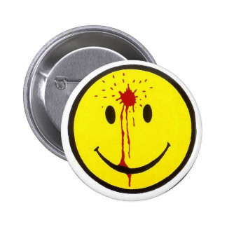 Bullet Smiley Face 6 Cm Round Badge