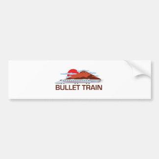 Bullet Train Bumper Sticker