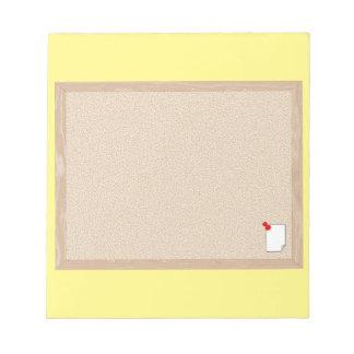 bulletin board notepad