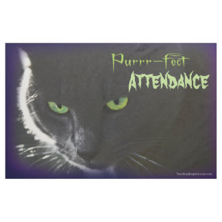 "Bulletin Board ""Purrr-fect …"" Halloween black cat Fabric"