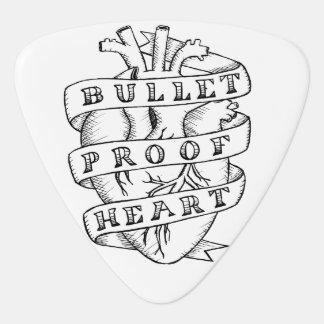 Bulletproof Heart Pick Guitar Pick