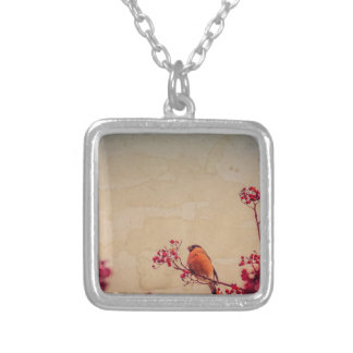 Bullfinch on Rowan Textured Silver Plated Necklace
