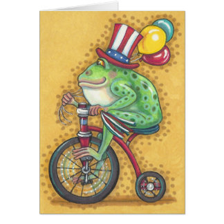 BULLFROG 4TH OF JULY, FROG NOTE CARD Blank