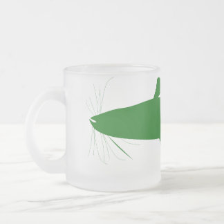 Bullhead Catfish Frosted Glass Coffee Mug