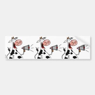 bullhorn cow scrapbook sticker