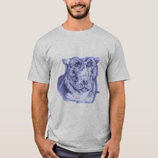 Bullied (Staffordshire Bull Terrier sketch) Blue T-Shirt