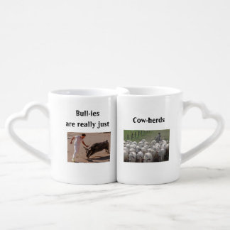 Bullies are Cow-herds Pun Mug