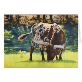 Bullish Longhorn Steer Card