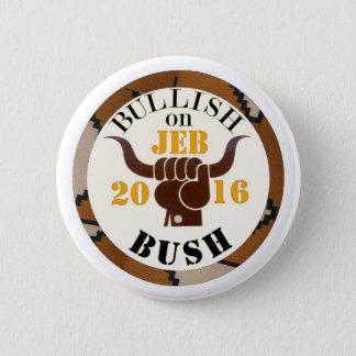 Bullish on Jeb for President 2016 6 Cm Round Badge