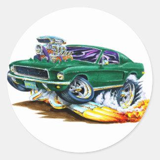 Bullitt Mustang with Big Engine Sticker