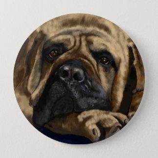 Bullmastiff 10 Cm Round Badge
