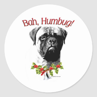 Bullmastiff Bah Humbug - Sticker