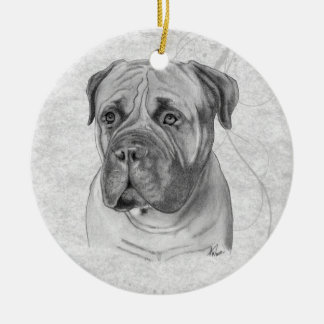 Bullmastiff Ceramic Ornament