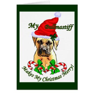 Bullmastiff Christmas Gifts Card
