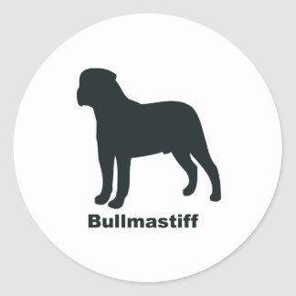 Bullmastiff Classic Round Sticker