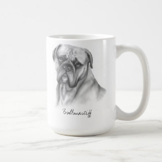 Bullmastiff Created as a Pencil Drawing Coffee Mug