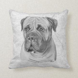Bullmastiff Drawing Cushion