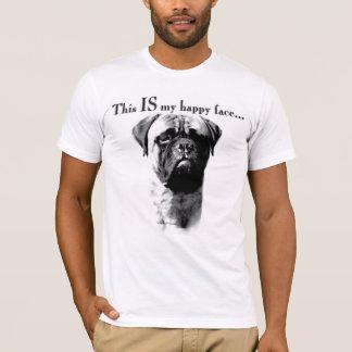 Bullmastiff Happy Face T-Shirt