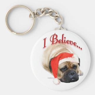 Bullmastiff I Believe Keychain