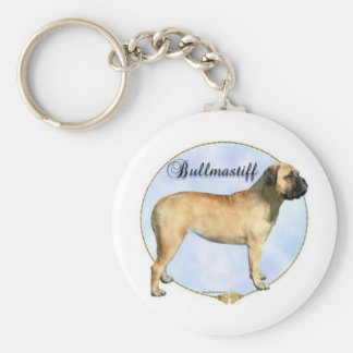 Bullmastiff Portrait Keychain