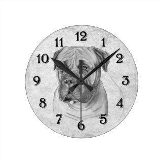 Bullmastiff Round Wall Clock