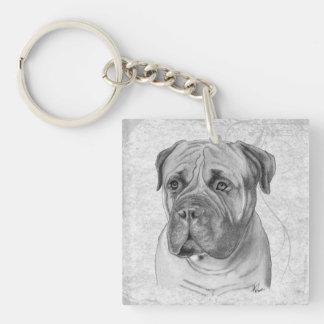 Bullmastiff Square Acrylic Key Chains
