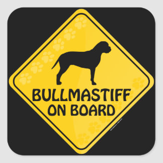 Bullmastiff Xing Square Sticker
