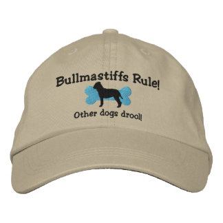 Bullmastiffs Rule Embroidered Hat