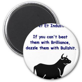 Bulls**** 6 Cm Round Magnet