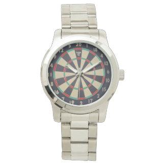 Bulls_Eye,_Dart_Board,_Unisex_Large_Silver_Watch Wristwatch