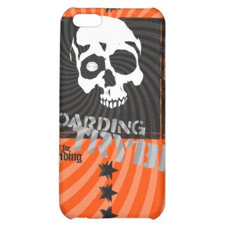 Bulls Eye Skull Skateboarder  Cover For iPhone 5C
