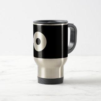 Bull's eye travel mug