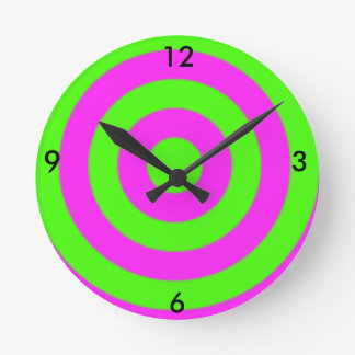 Bull's Eye Wall Clock