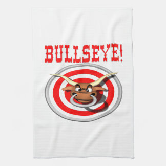 Bullseye 3 tea towel